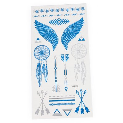 3D Metal Arrow Pattern Temporary Tattoos Stickers