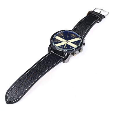 Фотография JUBAOLI Luminous Analog Men Quartz Watch Leather Band