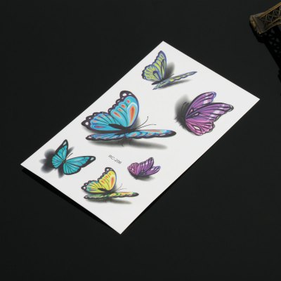 Fashion 3D Color Butterfly Pattern Tattoo Stickers