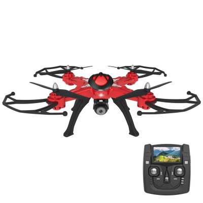 JJRC H25G 5.8G Real-time Transmission 6-axis Gyro FPV QuadcopterRC Quadcopters<br>JJRC H25G 5.8G Real-time Transmission 6-axis Gyro FPV Quadcopter<br><br>Age: Above 14 years old<br>Brand: JJRC<br>Built-in Gyro: Yes<br>Channel: 4-Channels<br>Detailed Control Distance: 200m<br>Features: 5.8G FPV<br>Flying Time: 9~10mins<br>Functions: With light, Up/down, Turn left/right, Sideward flight, One Key Automatic Return, Headless Mode, FPV, Forward/backward, Camera, 3D rollover<br>Level: Intermediate Level<br>Material: Plastic, Electronic Components<br>Mode: Mode 2 (Left Hand Throttle)<br>Model Power: Built-in rechargeable battery<br>Night Flight: Yes<br>Package Contents: 1 x Quadcopter, 1 x Transmitter, 4 x Propeller, 4 x Propeller Protector, 4 x Landing Gear, 1 x Screw Set, 1 x Screwdriver, 1 x Charger, 1 x 2MP Camera, 1 x USB Cable, 1 x Manual ( English + Chinese )<br>Package size (L x W x H): 34.00 x 33.00 x 17.00 cm / 13.39 x 12.99 x 6.69 inches<br>Package weight: 2.2000 kg<br>Product size (L x W x H): 50.00 x 50.00 x 18.00 cm / 19.69 x 19.69 x 7.09 inches<br>Product weight: 0.4290 kg<br>Radio Mode: Mode 2 (Left-hand Throttle)<br>Remote Control: 2.4GHz Wireless Remote Control<br>Transmitter Power: Built-in rechargeable battery<br>Type: Quadcopter