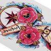 Fashion Halloween Horror Eyes Flowers Temporary Tattoos Stickers deal