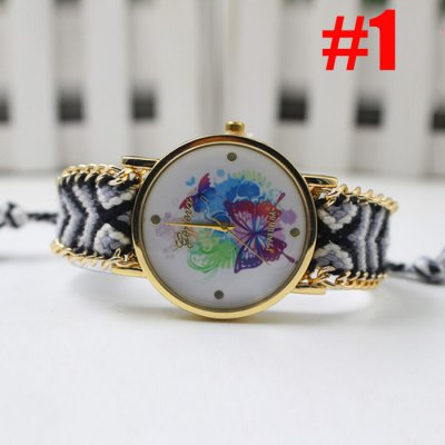 Geneva Butterfly Face Women Woven Woolen Quartz WatchWomens Watches<br>Geneva Butterfly Face Women Woven Woolen Quartz Watch<br><br>Brand: Geneva<br>Watches categories: Female table<br>Style: Bracelet,Fashion&amp;Casual<br>Movement type: Quartz watch<br>Shape of the dial: Round<br>Display type: Analog<br>Case material: Stainless Steel<br>Band material: Woolen<br>Clasp type: Conjoined clasp<br>The dial thickness: 0.7 cm / 0.28 inches<br>The dial diameter: 2.8 cm / 1.1 inches<br>Product weight: 0.045 kg<br>Package weight: 0.065 kg<br>Product size (L x W x H): 36.00 x 2.80 x 0.70 cm / 14.17 x 1.1 x 0.28 inches<br>Package size (L x W x H): 37.00 x 3.80 x 1.70 cm / 14.57 x 1.5 x 0.67 inches<br>Package Contents: 1 x Geneva Watch
