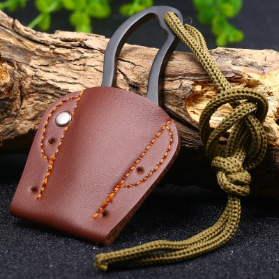 Portable Straight Knife with Sheath Lanyard