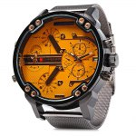 JUBAOLI Men Double Movt Quartz Watch with Date Function