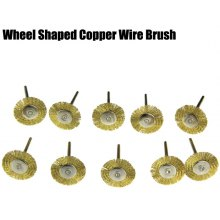 10PCS Brass Wire Wheel Head Polishing Brush Grinder Rotary Tool
