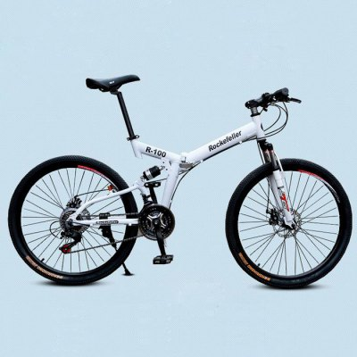 Rockefeller 26 inches 21 Speed Folding Mountain Bike - RockefellerBikes<br>Rockefeller 26 inches 21 Speed Folding Mountain Bike<br><br>Brand: Rockefeller<br>Type: Folding Bicycle,Mountain Bike<br>Wheel Size: 26 inches<br>Frame material : Aluminum Alloy<br>Braking System: Double Disc Brake<br>Color: Red,Orange,Yellow,White<br>Product weight: 15.000KG<br>Package weight: 33.000 KG<br>Product size: 135.000 x 20.000 x 13.000 cm / 53.15 x 7.874 x 5.118 inches<br>Package size: 149.000 x 32.000 x 86.000 cm / 58.661 x 12.598 x 33.858 inches<br>Package Content: 1 x Rockefeller Folding Mountain Bike