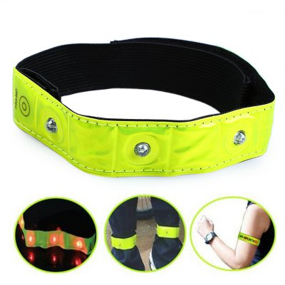 3 Mode 4 LED Safety Reflective Armband for Night Cycling