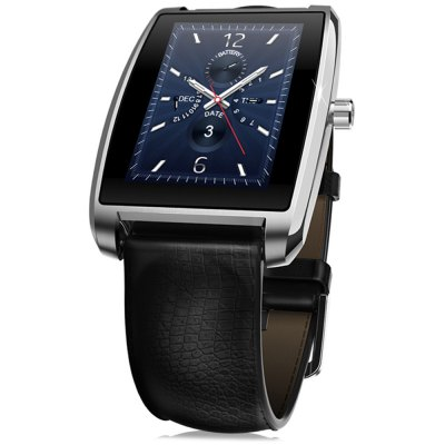 Zeblaze Cosmo Smart Watch MTK2502 Bluetooth SmartwatchSmart Watches<br>Zeblaze Cosmo Smart Watch MTK2502 Bluetooth Smartwatch<br><br>Brand: Zeblaze<br>Built-in chip type: MTK2502<br>Bluetooth version: Bluetooth 4.0<br>RAM: 64MB<br>ROM: 128MB<br>Waterproof Rating : IP65<br>Waterproof: Yes<br>Bluetooth calling: Answering,Dialing,Phone call reminder,Phonebook<br>Messaging: Message reminder<br>Health tracker: Heart rate monitor,Pedometer,Sedentary reminder,Sleep monitor<br>Remote Control: Camera remote,Music remote<br>Notification: Yes<br>Anti-lost: Yes<br>Find phone: Yes<br>Other Functions: Alarm,Calculator,Calender,Stopwatch,Voice recorder<br>Alert type: Ring,Vibration<br>Locking screen : 5 kinds of clock interfaces<br>Screen: IPS<br>Screen resolution: 256 x 320<br>Screen size: 1.61 inch<br>Battery Type: Polymer battery<br>Battery Capacity: 250mAh<br>Standby time: About 72 hours<br>People: Unisex watch<br>Shape of the dial: Rectangle<br>Case material: Metal<br>Band material: Genuine Leather<br>Compatible OS: Android,IOS<br>Compatability: Android / iOS system<br>Language: Arabic,English,French,German,Indonesian,Italian,Portuguese,Russian,Spanish,Swedish,Turkish<br>Available color: Gold,Silver<br>Dial size: 5.4 x 3.6 x 1.1 cm / 2.13 x 1.42 x  0.43 inches<br>Product size (L x W x H): 25.00 x 3.60 x 1.10 cm / 9.84 x 1.42 x 0.43 inches<br>Package size (L x W x H): 9.10 x 9.10 x 8.00 cm / 3.58 x 3.58 x 3.15 inches<br>Product weight: 0.053 kg<br>Package weight: 0.250 kg<br>Package Contents: 1 x Zeblaze Cosmo Smart Watch, 1 x USB Charging Cable, 1 x Box, 1 x German and English Manual