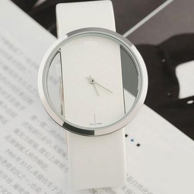 Women Quartz Watch with Transparent Dial Leather BandWomens Watches<br>Women Quartz Watch with Transparent Dial Leather Band<br><br>Watches categories: Female table<br>Available color: Red,Black,White<br>Style: Fashion&amp;Casual<br>Movement type: Quartz watch<br>Shape of the dial: Round<br>Display type: Analog<br>Case material: Stainless Steel<br>Band material: Leather<br>Clasp type: Pin buckle<br>The dial thickness: 1.1 cm / 0.43 inches<br>The dial diameter: 2.5 vm / 0.98 inches<br>The band width: 0.9 cm / 0.35 inches<br>Product weight: 0.040KG<br>Package weight: 0.070 KG<br>Product size (L x W x H): 20.000 x 2.500 x 1.100 cm / 7.874 x 0.984 x 0.433 inches<br>Package size (L x W x H): 21.000 x 3.500 x 2.100 cm / 8.268 x 1.378 x 0.827 inches<br>Package Contents: 1 x Quartz Watch