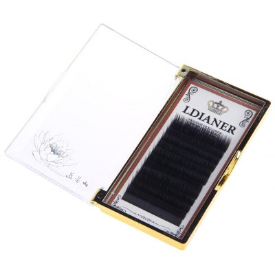 12mm Beauty Black Long Thick Reusable Fake Eyelashes for Cosmetic