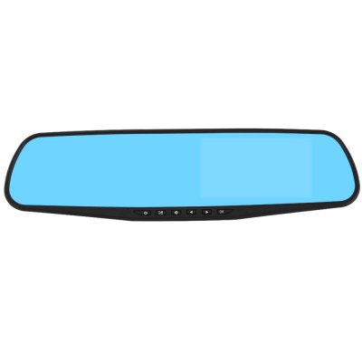 G30L 4.3 inch HD Car Rear View Mirror Camera RecorderCar DVR<br>G30L 4.3 inch HD Car Rear View Mirror Camera Recorder<br><br>Model: G30L<br>Type: Car DVR with Rearview Mirror,Dual Lens Dashboard Camera,HD Car DVR Recorder<br>Chipset Name: Generalplus<br>Chipset: Generalplus 2248<br>Image Sensor: CMOS<br>Internal memory: 1GB<br>Max External Card Supported: TF 32G (not included)<br>Class Rating Requirements: Class 10 or Above<br>Screen size: 4.3inch<br>Screen type: TFT<br>Battery Type: Built-in<br>Charge way: USB charge by PC<br>Wide Angle: 170 degree wide angle<br>Camera Pixel : 500M<br>Decode Format: H.264<br>Video format: AVI<br>Video Resolution: 1080P (1920 x 1080),720P (1280 x 720)<br>Video System: NTSC<br>Image Format : JPEG<br>Audio System: Built-in microphone/speacker (AAC)<br>Exposure Compensation: +0.3,+1,+2,-1,-2,-3,0<br>White Balance Mode: Auto,Cloudy,Fluorescent,Incandescent,Sunny<br>Loop-cycle Recording : Yes<br>Loop-cycle Recording Time: 2min,3min,5min,OFF<br>Motion Detection: Yes<br>Night vision : No<br>GPS: No<br>G-sensor: Yes<br>USB Function: PC-Camera,USB-Disk<br>Delay Shutdown : Yes<br>Time Stamp: Yes<br>Interface Type: AV-in,Mini USB,TF Card Slot<br>Anti-shake: No<br>Language: English,French,German,Japanese,Simplified Chinese,Traditional Chinese<br>Parking Monitoring: Yes<br>Frequency: 50Hz,60Hz<br>Operating Temp.: -10 - 60 centigrade degree<br>Storage RH  : -30 - 80 centigrade degree<br>Apply To Car Brand: Universal<br>Product weight: 0.242 kg<br>Package weight: 0.900 kg<br>Product size (L x W x H): 30.00 x 8.00 x 4.00 cm / 11.81 x 3.15 x 1.57 inches<br>Package size (L x W x H): 36.00 x 13.00 x 7.00 cm / 14.17 x 5.12 x 2.76 inches<br>Package Contents: 1 x Car Rearview Mirror Recorder, 2 x Fixed Bandage, 1 x Car Charger, 1 x USB Cable, 1 x Back Camera, 1 x English / Chinese Instruction