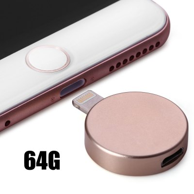 P6 Round Shape 64GB Micro USB 8Pin OTG Flash Drive