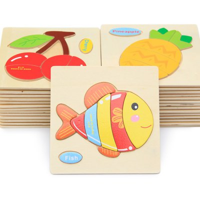 OU YI Jigsaw Children Learning 2D Wooden Puzzle Toy Birthday Gift