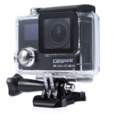 Campark ACT75 Dual LCD Ultra 4K HD 1080P Sports Camera Action Cam DV SetAction Cameras<br>Campark ACT75 Dual LCD Ultra 4K HD 1080P Sports Camera Action Cam DV Set<br><br>Brand Name: Campark<br>Model: ACT75<br>Type: Sports Camera<br>Chipset Name: Sunplus<br>Chipset: Sunplus SPCA6350<br>Max External Card Supported: 16-32G(not included)<br>Class Rating Requirements: Class 6 or Above<br>Screen type: LCD<br>Battery Type: Built-in<br>Charge way: AC adapter,USB charge by PC<br>Wide Angle: 170 degree wide angle<br>Video format: AVI<br>Video Resolution: 1080P(30fps),1080P(60fps),2.7K(15fps),2.7K(24fps),4K(10fps),4K(15fps)<br>Video System: NTSC,PAL<br>Video Output : HDMI<br>Image Format : JPEG<br>Audio System : Built-in microphone/speacker (AAC)<br>Exposure Compensation: +0.3,+0.7,+1,+1.3,+1.7,+2,-0.3,-0.7,-1,-1.3,-1.7,-2,0<br>White Balance Mode: Auto,Cloudy,Fluorescent,Incandescent,Sunny<br>WiFi Function: Image Transmission,Remote Control,Settings<br>Water Resistant: 30m water resistant<br>Loop-cycle Recording : Yes<br>Loop-cycle Recording Time: OFF<br>HDMI Output: Yes<br>Time Stamp: Yes<br>Interface Type: HDMI,Micro USB,TF Card Slot<br>Language: Cesky,Deutsch,Dutch,English,French,German,Italian,Japanese,Korean,Polski,Portuguese,Russian,Simplified Chinese,Spanish,Thai,Turkish<br>Frequency: 50Hz,60Hz,Auto<br>Product weight: 0.129 kg<br>Package weight: 0.550 kg<br>Product size (L x W x H): 5.80 x 4.00 x 2.80 cm / 2.28 x 1.57 x 1.1 inches<br>Package size (L x W x H): 27.00 x 17.00 x 7.00 cm / 10.63 x 6.69 x 2.76 inches<br>Package Contents: 1 x Campark ACT75 HD 1080P Sports Camera Action Cam DV Set, 1 x Bag of Accessories, 1 x English User Manual