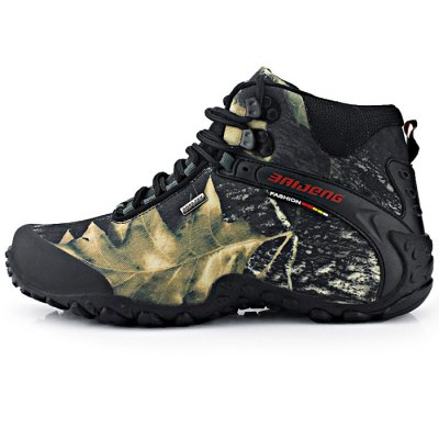 Male Camouflage High Boot Climbing ShoesShoes<br>Male Camouflage High Boot Climbing Shoes<br><br>Size: 41,40,42,43,44,45<br>Gender: Men<br>Season: Autumn,Spring,Winter<br>Closure Type: Lace-Up<br>Sole Material: Rubber<br>Upper Height: High<br>Highlights: Breathable<br>Product weight: 1.250 kg<br>Package weight: 1.370 kg<br>Product size: 27.000 x 8.000 x 10.000 cm / 10.630 x 3.150 x 3.937 inches<br>Package size: 32.000 x 28.000 x 12.000 cm / 12.598 x 11.024 x 4.724 inches<br>Package Contents: 1 x Pair of Male Camouflage High Boot Climbing Shoes