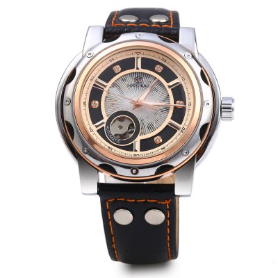 Forsining Men Self-Winding Auto Mechanical Leather Watch