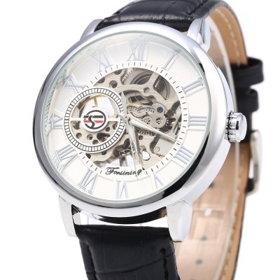 Forsining Men Self-Winding Auto Mechanical WatchMens Watches<br>Forsining Men Self-Winding Auto Mechanical Watch<br><br>Brand: Forsining<br>Watches categories: Male table<br>Watch style: Casual,Fashion<br>Movement type: Mechanical watch<br>Shape of the dial: Round<br>Display type: Analog<br>Case material: Stainless Steel<br>Band material: Leather<br>Clasp type: Pin buckle<br>The dial thickness: 0.8 cm / 0.32 inches<br>The dial diameter: 4 cm / 1.57 inches<br>The band width: 1.8 cm / 0.71 cm<br>Wearable length: 18 - 22 cm / 7.09 - 8.66 inches<br>Product weight: 0.050 kg<br>Package weight: 0.110 kg<br>Product size (L x W x H): 24.000 x 4.500 x 0.800 cm / 9.449 x 1.772 x 0.315 inches<br>Package size (L x W x H): 25.000 x 5.500 x 1.800 cm / 9.843 x 2.165 x 0.709 inches<br>Package Contents: 1 x Forsining Men Mechanical Watch