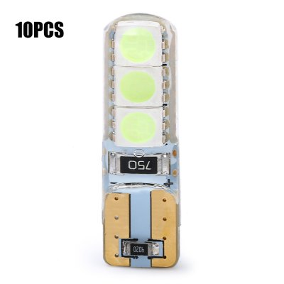 10pcs T10 2W 6 x SMD 5050 90LM LED Car Light