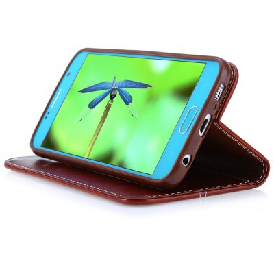 Magnetic Flip Leather Case Cover for Samsung S6