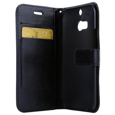Magnetic Card Slot Wallet Stand Leather Flip Case for HTC M8
