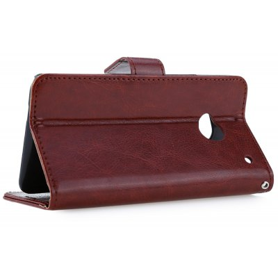Magnetic Card Slot Wallet Stand Leather Flip Case for HTC M7