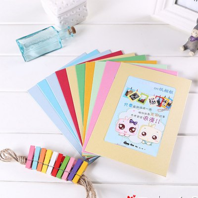 10pcs-colourful-6-inch-paper-photo-frame-kit