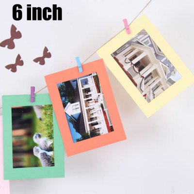 10Pcs Colourful 6 inch Paper Photo Frame Kit