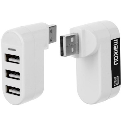 Rotatable High Speed 3 Port USB 2.0 Adapter Hub