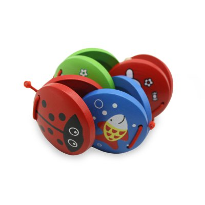 Wooden Finger Castanets Toy
