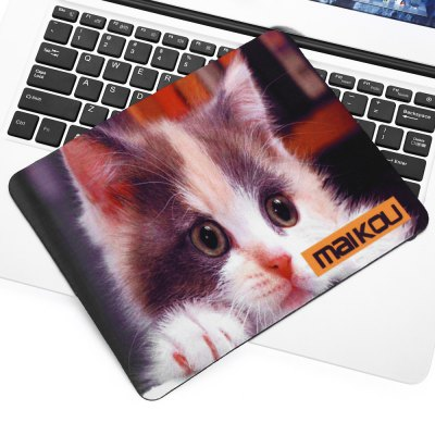 Maikou Mouse Pad Brown and White Face Cat