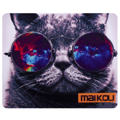 Maikou Mouse Pad Cat Wears Eyeglasses