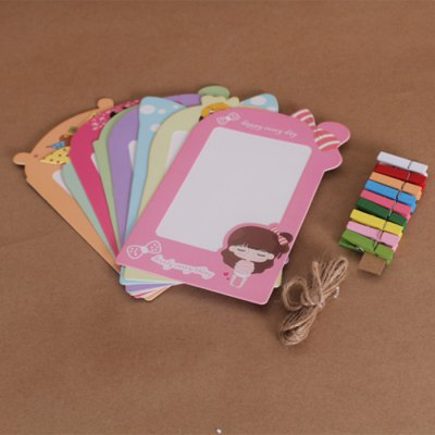 8Pcs Cartoon Girl 5 inch Paper Photo Frame KitPhoto Album &amp; Frames<br>8Pcs Cartoon Girl 5 inch Paper Photo Frame Kit<br><br>For: Brothers, Student, Friends, Teachers, Parents, Lovers, Sisters<br>Material: Paper<br>Package Contents: 8 x Photo Frame, 8 x Clip, 1 x 2M Rope<br>Package size (L x W x H): 14.500 x 11.000 x 1.500 cm / 5.709 x 4.331 x 0.591 inches<br>Package weight: 0.100 kg<br>Product weight: 0.070 kg<br>Subjects: Cute,Cartoon<br>Usage: New Year, Wedding, Christmas, Birthday, Party