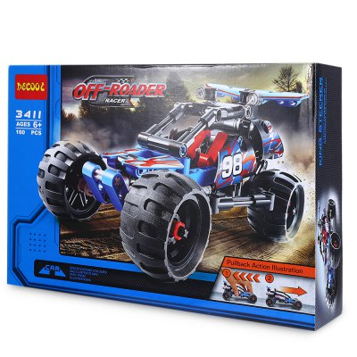 Decool Mini Pullback Racing CarBlock Toys<br>Decool Mini Pullback Racing Car<br><br>Age: 6 Years+<br>Applicable gender: Unisex<br>Design Style: Cartoon<br>Features: Educational<br>Material: Plastic<br>Package Contents: 1 x Car Building Block Set<br>Package size (L x W x H): 30.000 x 7.000 x 20.000 cm / 11.811 x 2.756 x 7.874 inches<br>Package weight: 0.500 kg<br>Puzzle Style: Car<br>Small Parts : Yes<br>Type: Building Blocks<br>Washing: No