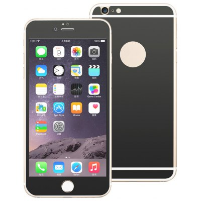 Angibabe Electroplated Tempered Glass Screen Film Back Protector for iPhone 6 / 6S