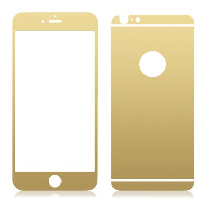Angibabe Tempered Glass Screen Film Back Protector for iPhone 6 Plus / 6S Plus Electroplated Mirror