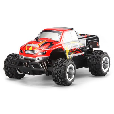 WLtoys L343 Stimulation 1 / 24 Scale 2.4G Big Foot Crossing RC VehicleRC Cars<br>WLtoys L343 Stimulation 1 / 24 Scale 2.4G Big Foot Crossing RC Vehicle<br><br>Brand: WLtoys<br>Type: RC Cars<br>Features: Radio Control<br>Functions: Forward/backward,Turn left/right,Brake<br>Material: ABS,POM,PA<br>Age: Above 8 years old<br>Remote Control: 2.4GHz Wireless Remote Control<br>Control Distance: 40~50m<br>Transmitter Power: 3 x 1.5V AA battery (not included)<br>Car Power: Built-in rechargeable battery<br>Charging time: About 70min<br>Racing Time: About 12mins<br>Product weight: 0.270 kg<br>Package weight: 0.900 kg<br>Product size (L x W x H): 21.000 x 13.000 x 9.000 cm / 8.268 x 5.118 x 3.543 inches<br>Package size (L x W x H): 36.000 x 19.000 x 21.000 cm / 14.173 x 7.480 x 8.268 inches<br>Package Contents: 1 x Car, 1 x Transmitter, 1 x Battery, 1 x Charger, 1 x English Manual