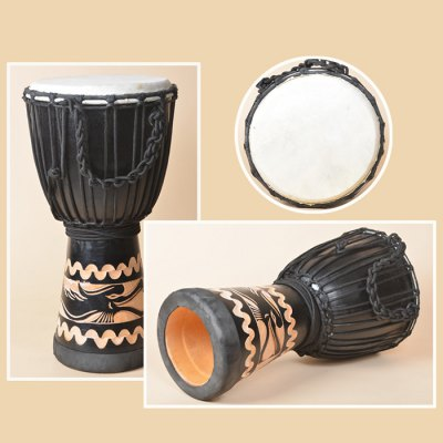 Mahogany African Hand Drum 8 inch Traditional Handmade Djembe Painted Design от GearBest.com INT