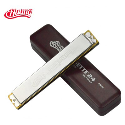 Huang 133 24 Hole Tremolo Harmonica High Grade C-major Instrument Gift