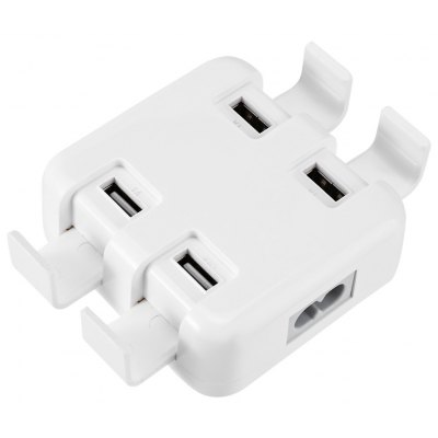 4 USB Ports Charger Power Adapter Holder Stand