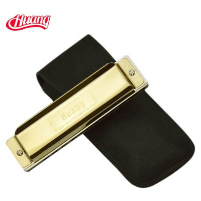 Huang 107 10 Hole Harmonica C-major Classic Instrument Gift for Music Lover