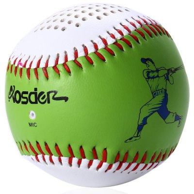 Aosder BL001 Baseball Shape Wireless Bluetooth Speaker Music Player