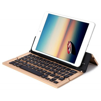 F18 Aluminum Alloy Foldable Wireless Bluetooth 3.0 Keyboard