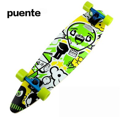 Puente 33.8 Inches ABEC-9 9-layer Maple Longboard