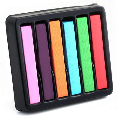 6 Colors Soft Pastels Salon Kit Fast Temporary Short Hair Dye Chalk