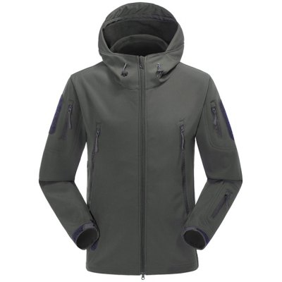 Male Fleece Hooded Jacket with Velcro CuffOutdoor Jackets<br>Male Fleece Hooded Jacket with Velcro Cuff<br><br>Gender: Men<br>Activity: Camping and Hiking,Outdoor Lifestyle,Climbing,Fishing,Cycling<br>Features: Windproof,Keep Warm<br>Product weight: 1.200 kg<br>Package weight: 1.420 kg<br>Product size: 72.000 x 53.000 x 0.500 cm / 28.346 x 20.866 x 0.197 inches<br>Package size: 36.000 x 29.000 x 4.000 cm / 14.173 x 11.417 x 1.575 inches<br>Package Content: 1 x Male Fleece Hooded Jacket