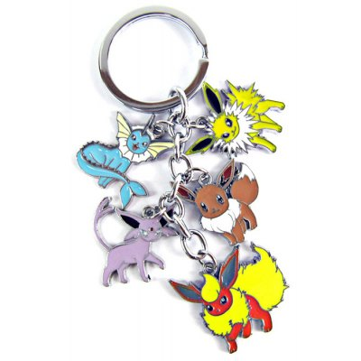 5 in 1 MEI KA Pokemon Pocket Metal Key Chain