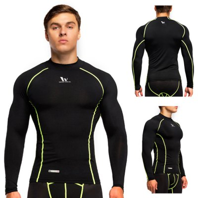 Vansydical Male Slim Soft Exercising Long SleevesWeight Lifting Clothes<br>Vansydical Male Slim Soft Exercising Long Sleeves<br><br>Brand: Vansydical<br>Types: Long Sleeves<br>Size: M,L,XL<br>Gender: Men<br>Material: Polyester,Spandex<br>Color: Blue,Gray,Black<br>Product weight: 0.220KG<br>Package weight: 0.280 KG<br>Package size: 25.000 x 22.000 x 2.000 cm / 9.843 x 8.661 x 0.787 inches<br>Package Content: 1 x Vansydical Male Slim Exercising Long Sleeves