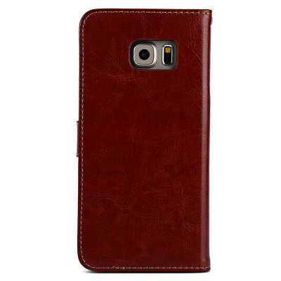 ФОТО Magnetic Card Slot Wallet Stand Leather Flip Case for Samsung S6 Edge Plus