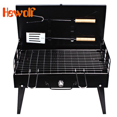 Hewolf 44 x 22cm Folding Camping Grill