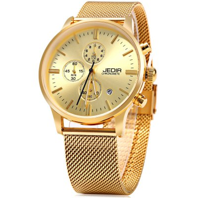 JEDIR 2011 Men Quartz Watch Working Sub-dial Date Display